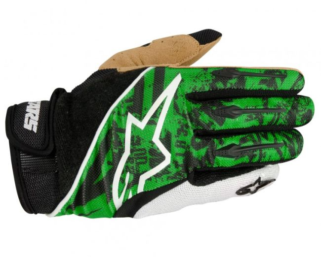 Alpinestars Gravity Green rukavice zelené