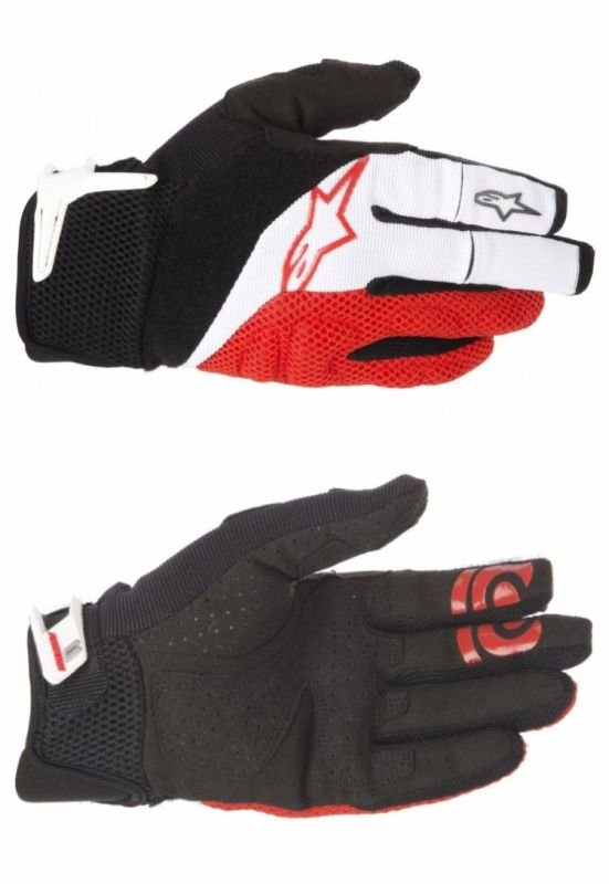 Alpinestars MOAB rukavice White black red
