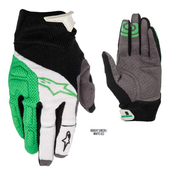 Alpinestars MOAB rukavice Bright Green White