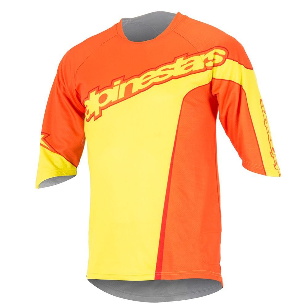 Alpinestars Crest 3/4 Jersey - Bright Orange Acid Yellow
