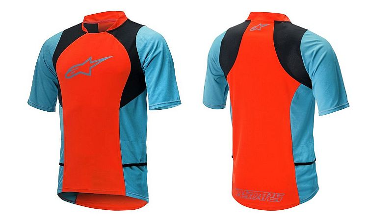 Alpinestars Drop 2 S/S dres Spicy Orange Sapphire Blue vel. XXL