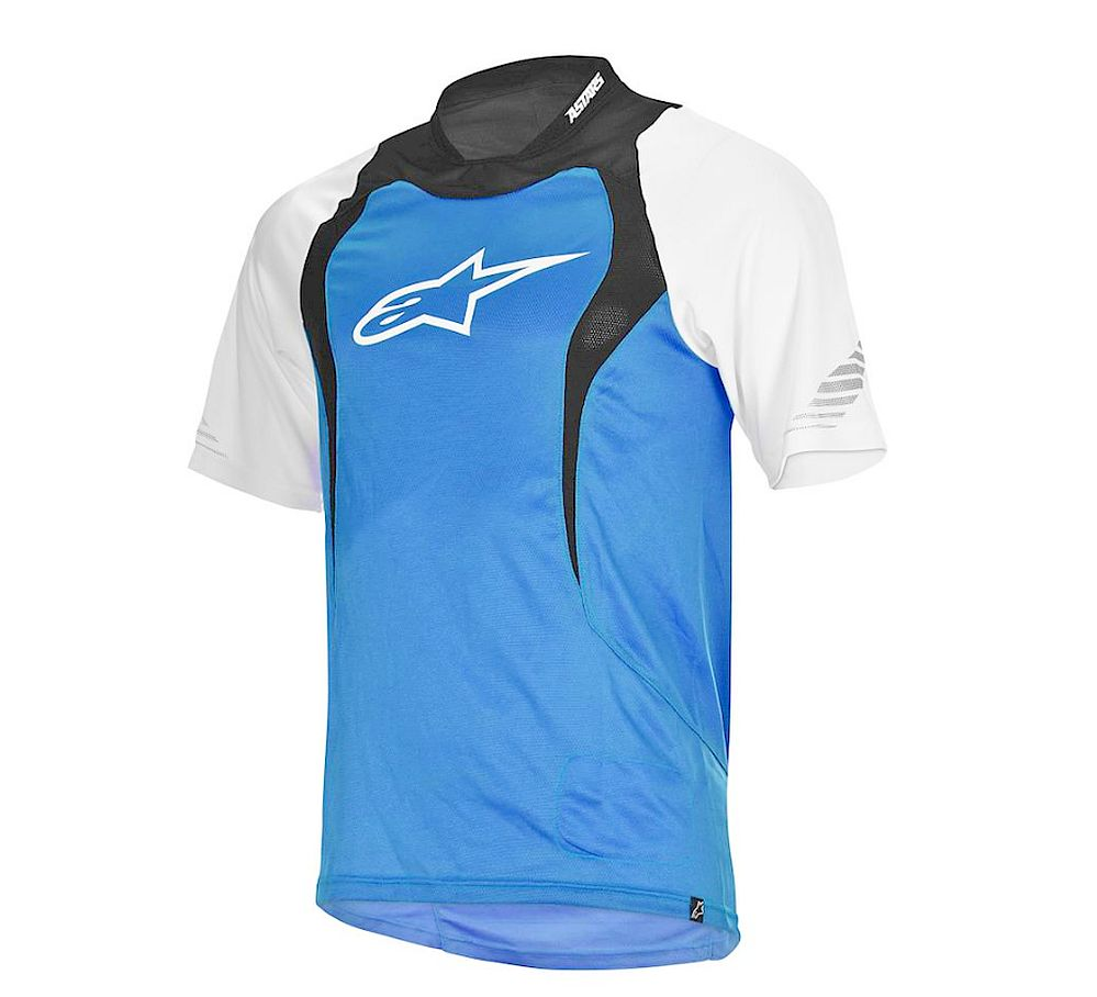 Alpinestars Drop S/S Jersey dres Electric Blue/White