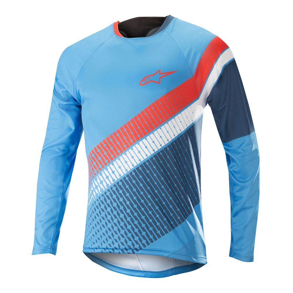 Alpinestars Predator LS Jersey - Bright Blue Poseidon Orange