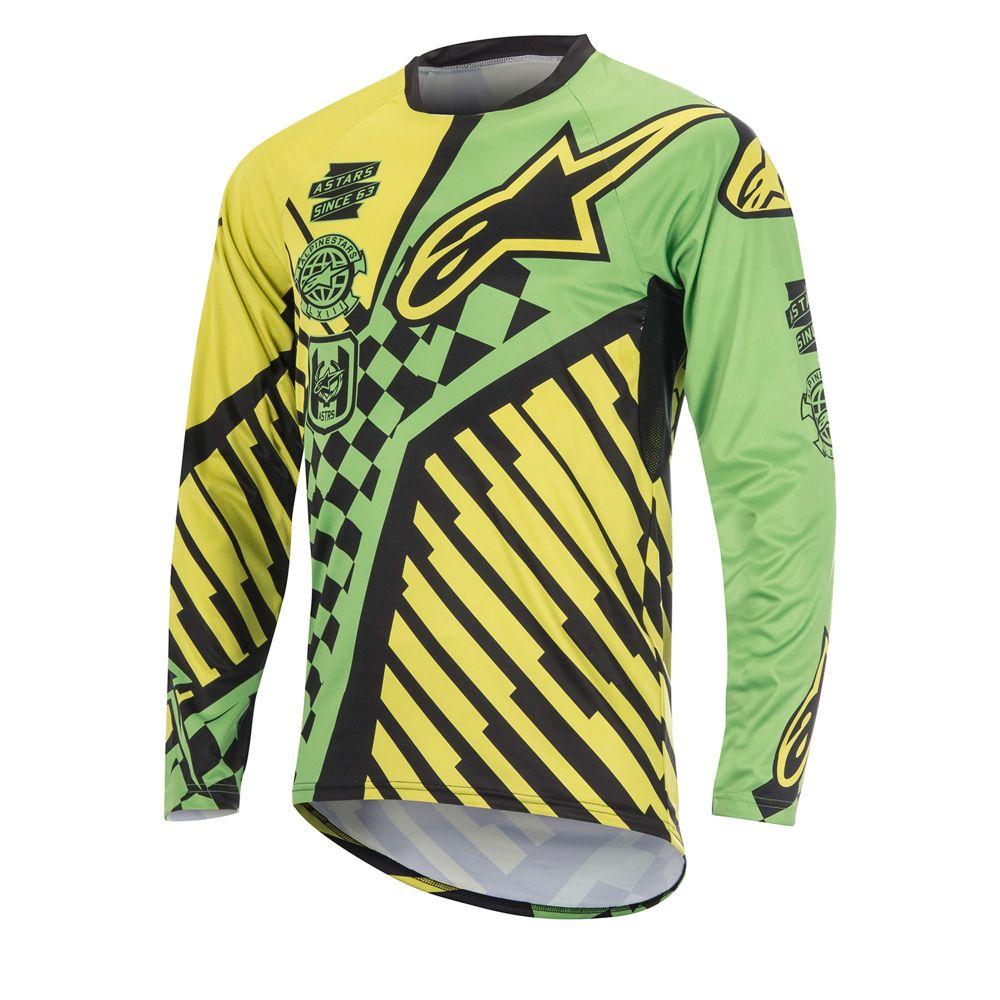 9191b6d6f Alpinestars Sight Speedster L S Jersey Bright Green Acid Yellow