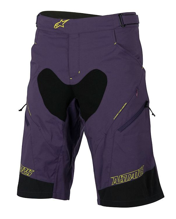 Alpinestars Drop 2 Shorts Purple Acid Yellow vel. 36