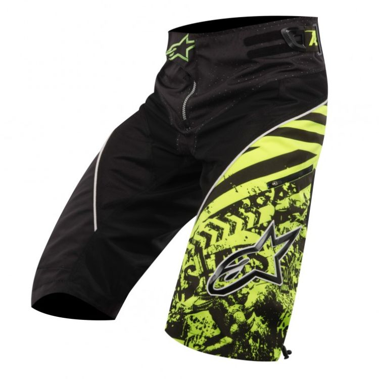 Alpinestars Gravity Shorts Yellow Fluo Black