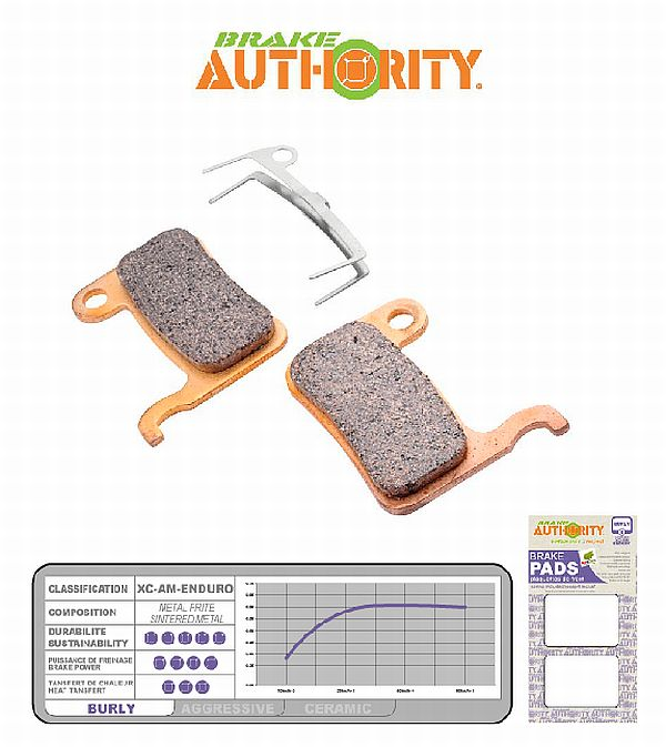 Brake Authority Burly - Shimano XTR/XT/LX/Saint/SLX b. destičky