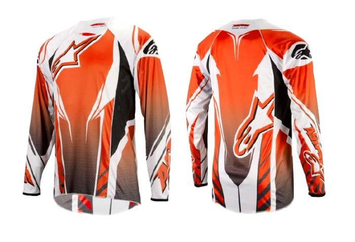 Alpinestars A-line L/S Jersey dres Orange/Black/Grey, vel. M